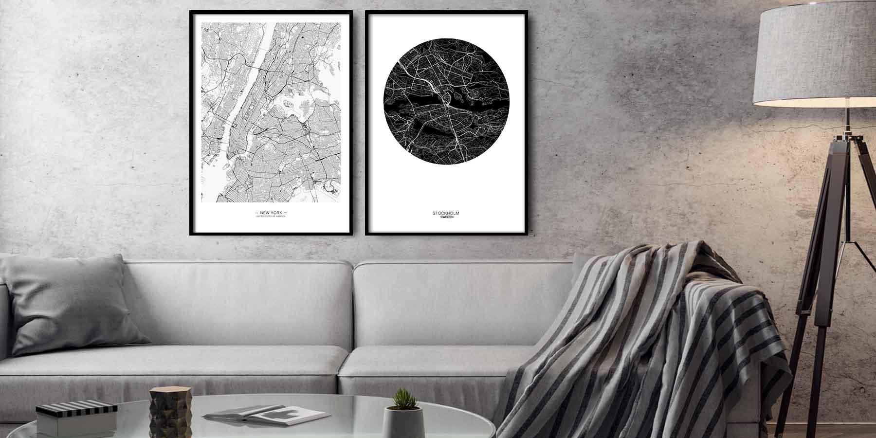 Mapy dekorace na stěnu design studio la forma